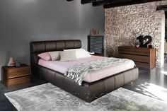 Cloud Platform Bed in Brown Eco-Leather by Rossetto Bedroom Furniture Sets, Large Furniture, Funky Furniture, Bedroom Sets, Luxury Furniture, Bedroom Loft, Blue Bedroom, Contemporary Bedroom, Contemporary Furniture