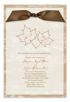 Autumn Trees - Wedding Invitations by Invitation Consultants. (Item # IC-RLP-SH-6 )