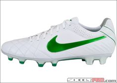Nike Tiempo Legend Iv Fg White With Metallic Silver And Court Green 143 99