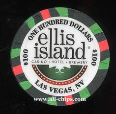 #LasVegasCasinoChip of the Day is a $100 Ellis Island 2nd issue you can get here https://www.all-chips.com/ChipDetail.php?ChipID=19112 #CasinoChip #LasVegas