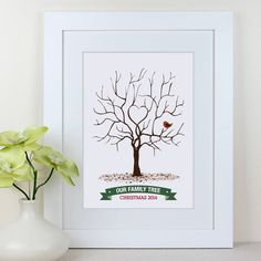 our family fingerprint tree christmas 2014 by intwine | notonthehighstreet.com