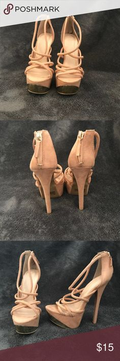 Charlotte Russe stilletos Pair of Charlotte Russe heels size 7. These heels are gorgeous with the gold accents. Only worn one time and in great condition. Charlotte Russe Shoes Heels