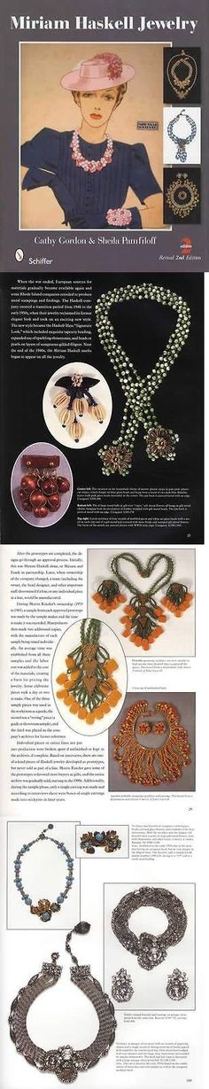 Price Guides and Publications 171122: Vintage Miriam Haskell Costume Jewelry Collector Guide 2Nd Ed W Designer Info -> BUY IT NOW ONLY: $59.99 on eBay!