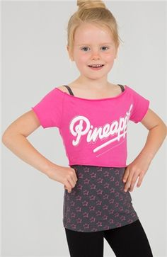 f03c3b2e1f75fa GIRLS DANCE STAR DOUBLE TEE Younger dancers can shine in this colourful  double layer Pineapple logo