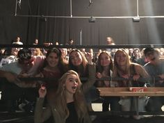 Sabrina with fans on set of So Close