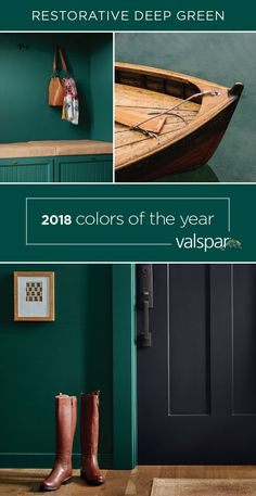 Valspar's Deep Green is sure to bring an invigorating pop of color into your home. Get it at Lowe&; Valspar's Deep Green is sure to bring an invigorating pop of color into your home. Get it at Lowe&; Green Wall Color, Green Paint Colors, Paint Colors For Home, Room Colors, Wall Colors, House Colors, Color Pop, Color Blue, Colours