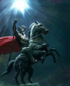 In Norse mythology, the great god Odin rode an eight-legged white horse named Sleipnir, a supernatural beast capable of leaping great distances. At the height of Yuletide—on the day after the winter solstice—Odin led a great hunting party across the sky in celebration of the return of the sun.