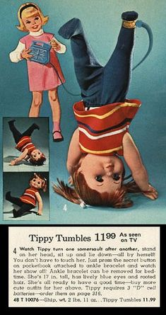 Tippy Tumbles - controlled by the blue pocketbook!  Always wanted one.