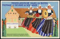 'Nederlandse kaas en boter' #reclame #vroeger #nostalgie #Verzameling #advertentie #melk #boter #kaas #holland #cultuur