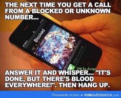 Special answer to blocked calls.....