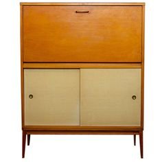 Birch Paul McCobb Desk with Drop Leaf