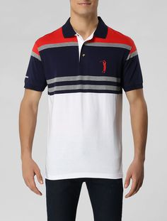 Polo Aleatory F.T. Marinho / Mescla - Glamour Polo Tee Shirts, Tees, T Shirt, Men's Polo, Like A Boss, Hugo Boss, Lacoste, Polo Ralph Lauren, Barbie