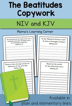 Bible Copywork: The Beatitudes - Mama's Learning Corner | CurrClick