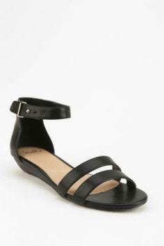 Shellys London Double-Strap Wedge Sandal