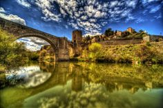 Espagne Maison Rivières Ponts Toledo HDR Nuage Villes Hdr Photography, Monument Valley, Bridge, Nature, Travel, Bridges, Cloud, Spain, Sevilla Spain