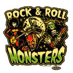 ROCK & ROLL MONSTERS | Sticker voiture & moto Rock & Roll Monsters Vince Ray