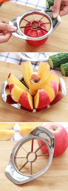 US$3.89 Stainless Steel Apples Corer Slicer Pear Cutter Fruit Vegetable Tools Kitchen Accessories