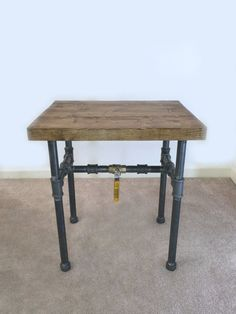Industrial Side Table, End Table, Pipe Table, Industrial Decor, Bedside Table, Industrial Furniture, Pipe Decor, Nightstand, Pipe Furniture