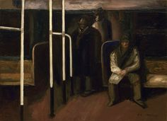 José Clemente Orozco The Subway 1928 . . New York audiences (and artists) were able to view a great deal of Mexican painting in the 1930 and 40s. This art had an enormous impact on the development of American painters both realist and abstract. - Dr. Edward J. Sullivan in Nueva York 1613-1945 .  #orozco #tablada #talonrouge #proxyco #greatbooks #edwardjsullivan #arthistory #newyork #latinamerica