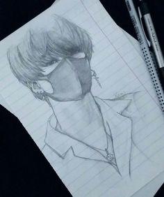 I think tae Kpop Drawings, Pencil Art Drawings, Art Drawings Sketches, Fan Art, Anime Sketch, Kpop Fanart, Art Inspo, Art Reference, Anime Art