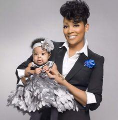 Monica & daughter Laiyah....so cute!
