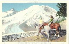 Vintage Washington State Postcard  Trail Riders and by VintagePlum