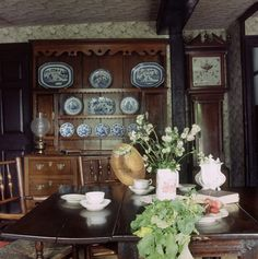 The Landing on the first floor at Hill Top House, the home of Beatrix Potter in Near Sawrey, Cumbria, England, UK.