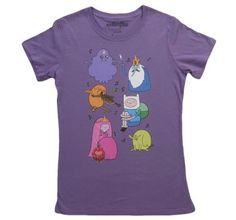 Women's Adventure time Tee!  http://www.t-shirts.com/womens-adv-time-group-shot-tshirt.html