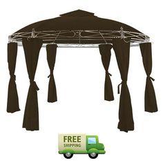 Garden Metal Gazebo Side Panels Outdoor Patio Back Yard Furniture BBQ Canopy New