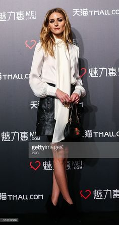 Olivia Palermo attends Tmall.com promotional event at Expo I-Pavilion on March 30, 2016 in Shanghai, China.