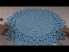 Sousplat de Crochê Mega passo a passo Professora Simone Eleotério Crochet Circles, Crochet Mandala, Crochet Doilies, Embroidery Designs, Coasters, Diy And Crafts, Projects To Try, Crochet Patterns, Rugs