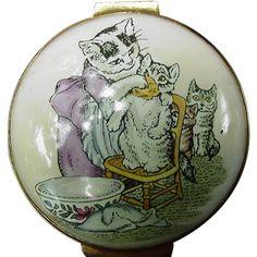Crummles & Co. Enamel Porcelain Box, Cats