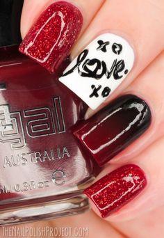 Glitter Gal Australia nail art using White Pointer, redback, serpent black, gloss boss top coat tks for the swatches http://thenailpolishproject.com/?p=5099