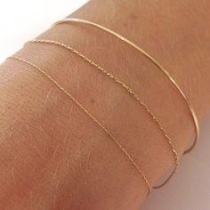 Pønt 1 8 K G O L D armring and silkcordbracelets #18K #gold