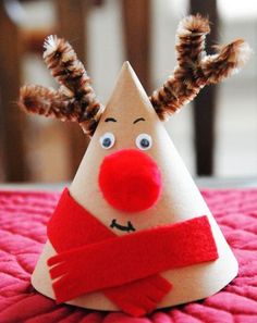Christmas crafts Rudolph the reindeer