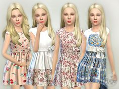 Dresses ideas kids overalls, designer dresses, sims 4 children, 4 k Sims 4 Dresses, Girls Dresses, Sims 4 Children, 4 Kids, The Sims 4 Cabelos, Sims 4 Cc Kids Clothing, Sims 4 Toddler, Girl Toddler, Sims4 Clothes