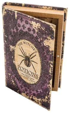 Love the purple Witch's Potions Book Box - Halloween Prop