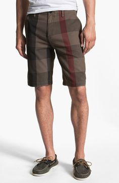 Burberry Brit Check Print Shorts available at #Nordstrom