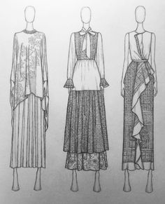 Fashion Design Sketchbook, Fashion Design Portfolio, Fashion Design Drawings, Fashion Sketches, Art Portfolio, Art Sketchbook, Fashion Model Drawing, Fashion Drawing Dresses, Fashion Illustration Dresses