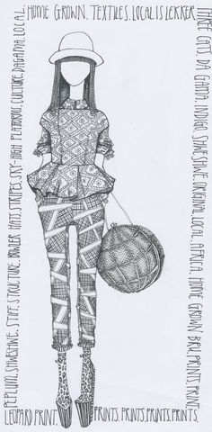 Cool fashion llustration created by our author Daisie Jo. http://shop.urbantimes.co/