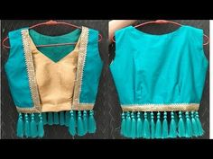 Stylish short jacket making step by step Choli Blouse Design, Saree Blouse Neck Designs, Short Kurti Designs, Diy Clothes Tops, Designer Blouse Patterns, Skirt Patterns, Blouse Styles, Fashion Design, Stylish