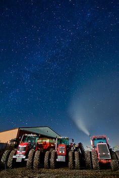 Massey Ferguson Tractors Beneath the Milky Way [EXPLORED] by Brandon Townley - www.brandontproductions.com, via Flickr