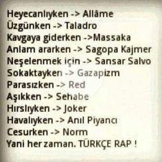 Heran herzaman Türkçe Rap