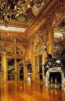 The Gold Ballroom of the Marble House in Newport Beach, Rhode Island