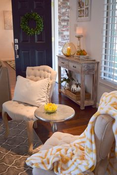 Update your home decor for autumn with decorative accessories and cozy throws in your favorite Fall color.