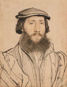 An unidentified man or Black Cap, by Hans Holbein the Younger, Royal Collection Trust © Her Majesty Queen Elizabeth II 2017 Portrait Sketches, Portrait Art, Portrait Paintings, Life Drawing, Painting & Drawing, Hans Holbein The Younger, Royal Collection Trust, Landsknecht, National Portrait Gallery