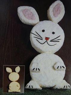 Classic Australian Womens Weekly Bunny Cake.