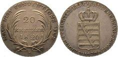 Sachsen-Coburg-Saalfeld Ernst 1806-1826. 20 Kreuzer 1826 S Winz. Justierspuren, vorzüglich +