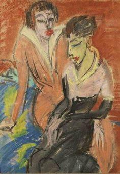 """ernstludwigkirchner: """" Zwei Frauen (1913) Franz Marc Museum, Kochel am See """""""