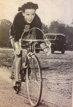 Eileen Sheridan, one of the best-known cyclists in Britain in the 1950s. Her 1,000-mile record of 3 days and 1 hour stood for 48 years until it was broken in 2002